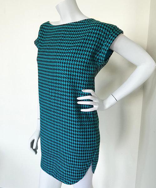 Teal Pinwheel Tunic Dress