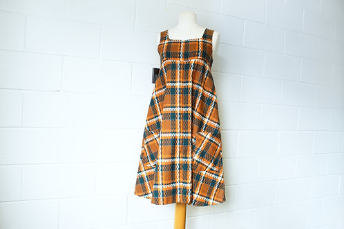Plaid Jumper Dress Vintage Wool