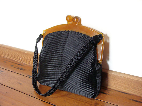 Trapunto Quilted Satin Purse
