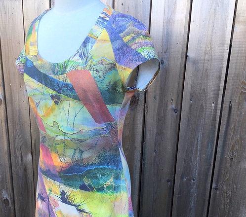 Neon Desert Tee Shirt Dress