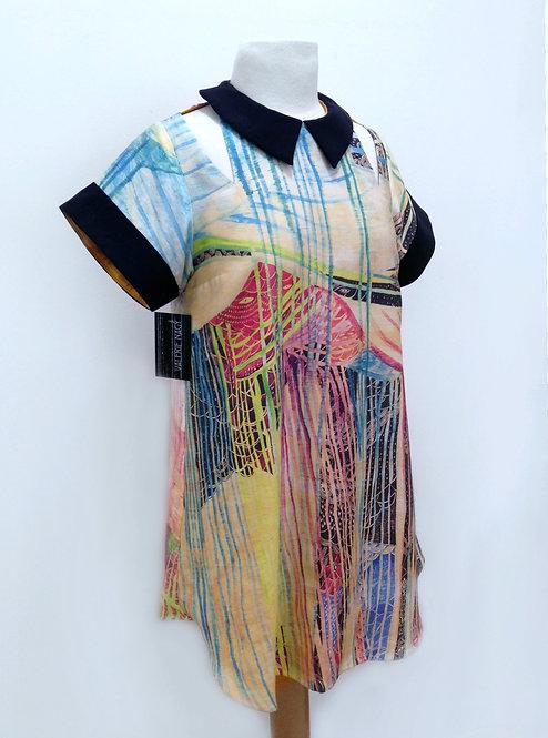 Acid Open Shoulder Dress S-M