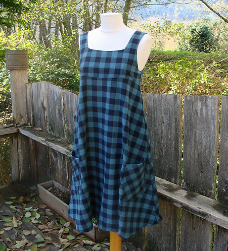 Buffalo Check Flannelette Jumper Dress