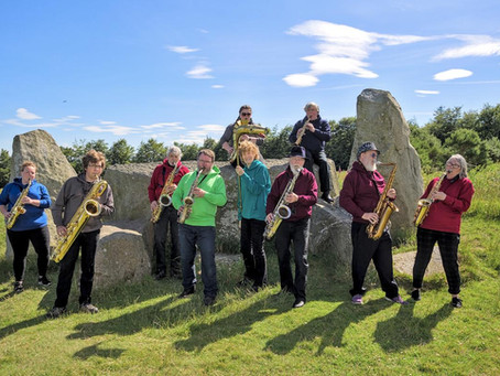Socially Distant Sax at Standing Stones July 2020
