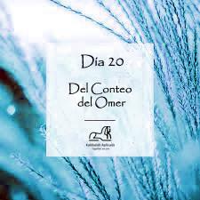 Día 20 del Conteo del Omer