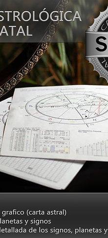 Carta astrológica natal. (versión SILVER)