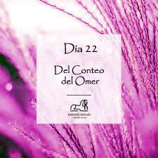 Día 22 del Conteo del Omer