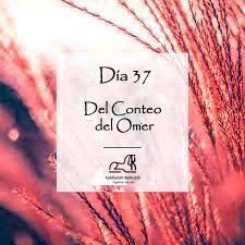 Día 37 del Conteo del Omer
