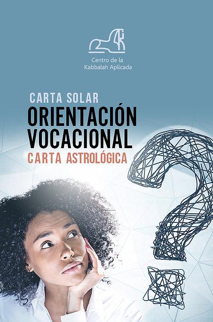 carta astrológica  de orientación vocacional