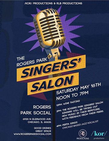 singer's salon poster
