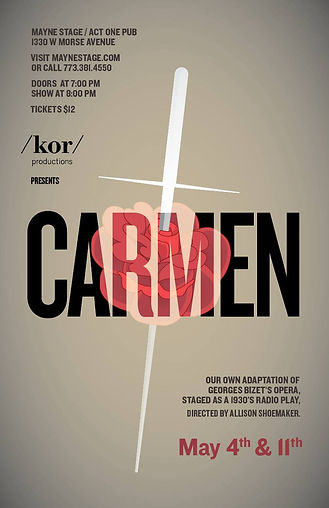carmen poster kor productions