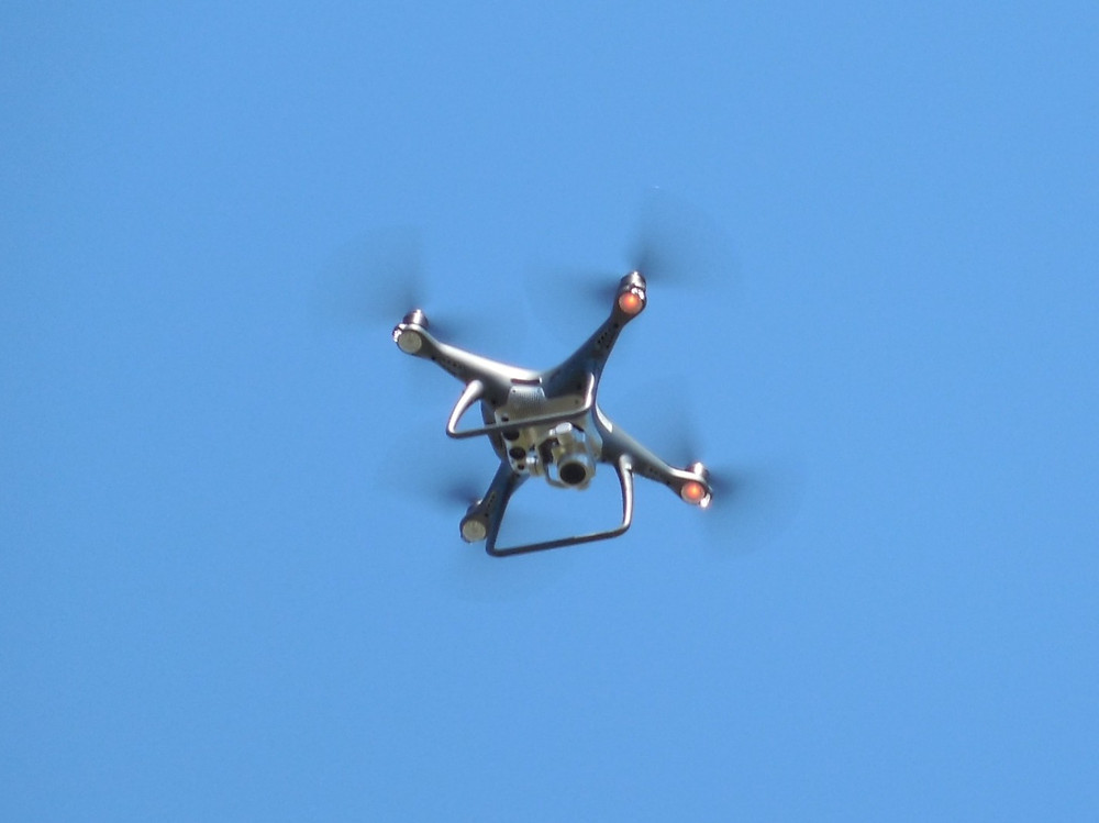 Drone in action.