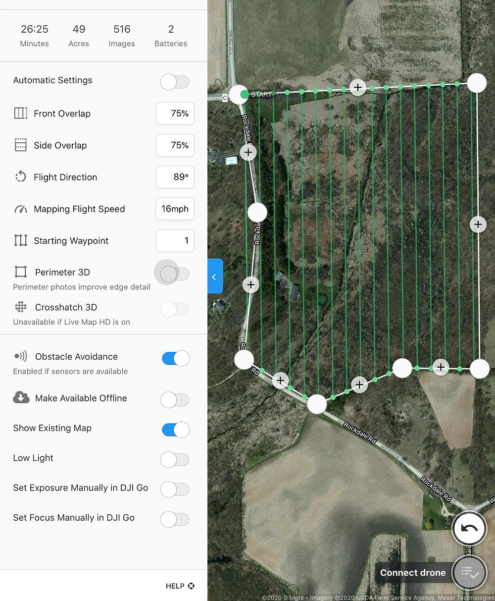 Drone flight planning app.