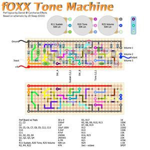 Foxx Tone Machine layout by Daniel @ Carcharias Effects