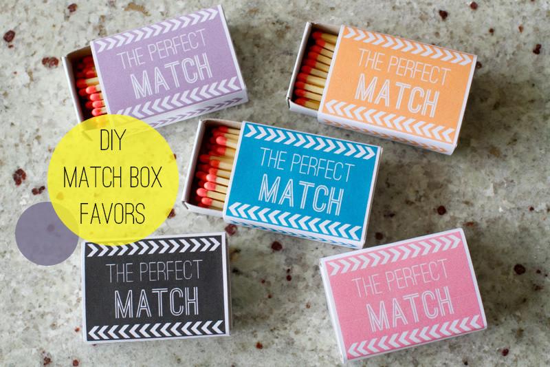 DIY Matchbox Favours - idea from Bespoke Bride
