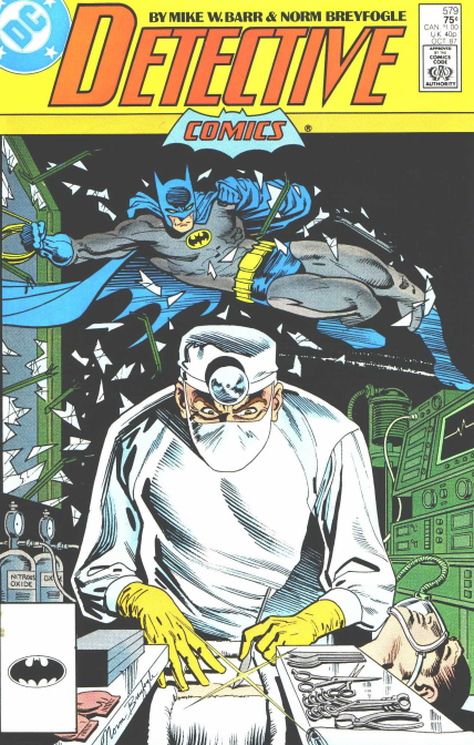 Cover of Detective Comics #579. It's not relevant, but it has a doctor on it.