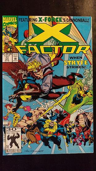 X FACTOR #77 (APR 92)