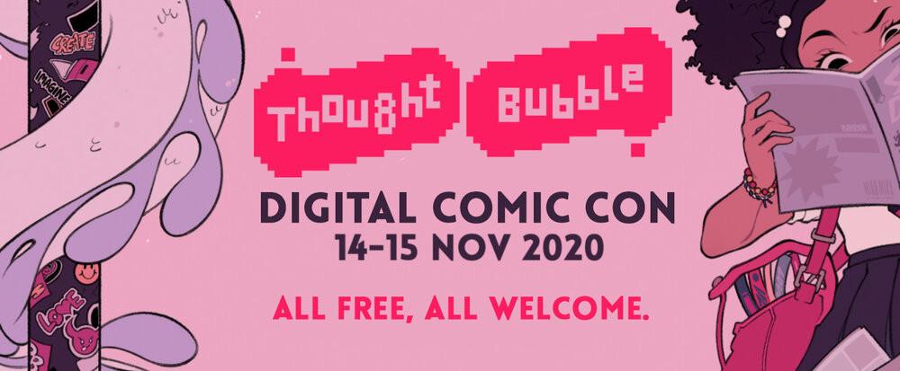 Thought Bubble Digital Comic Con Logo