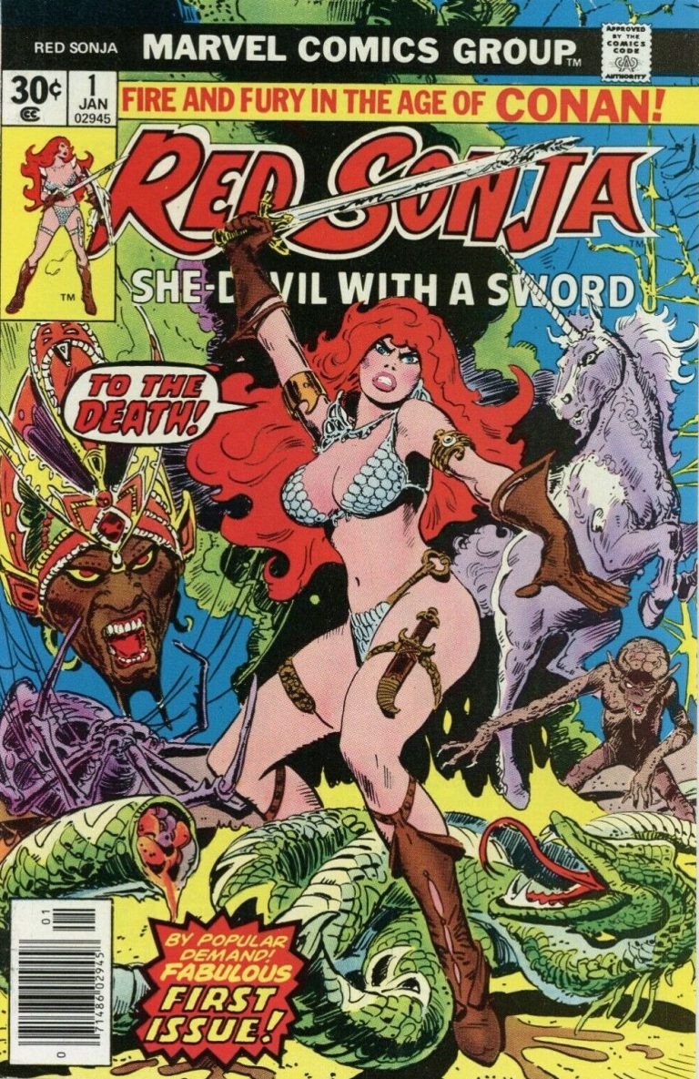 Frank Thornes cover to Red Sonja #1