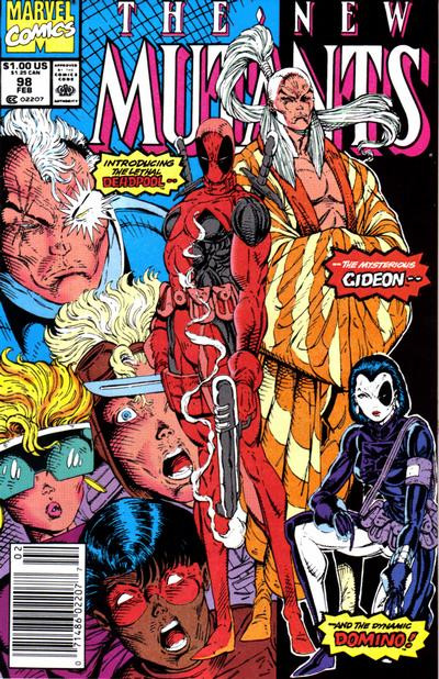 Deadpool makes his first appearance. Art by Rob Liefeld