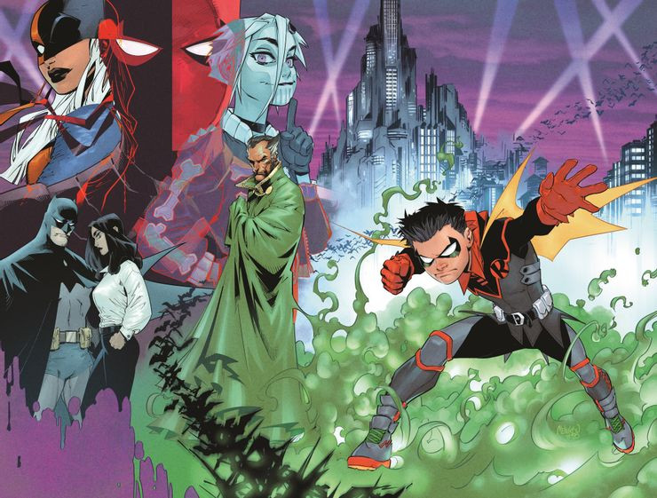 Robin #1 wraparound Variant cover