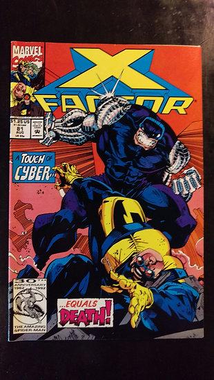 X FACTOR #81 (AUG 92)