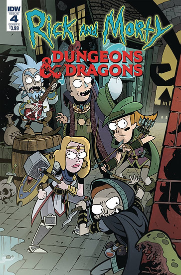 RICK & MORTY VS DUNGEONS & DRAGONS #4 (OF 4) CVR A LITTLE (C: 1-0-0)