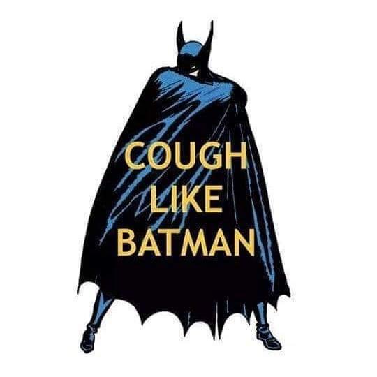 "The ""cough like Batman"" meme"
