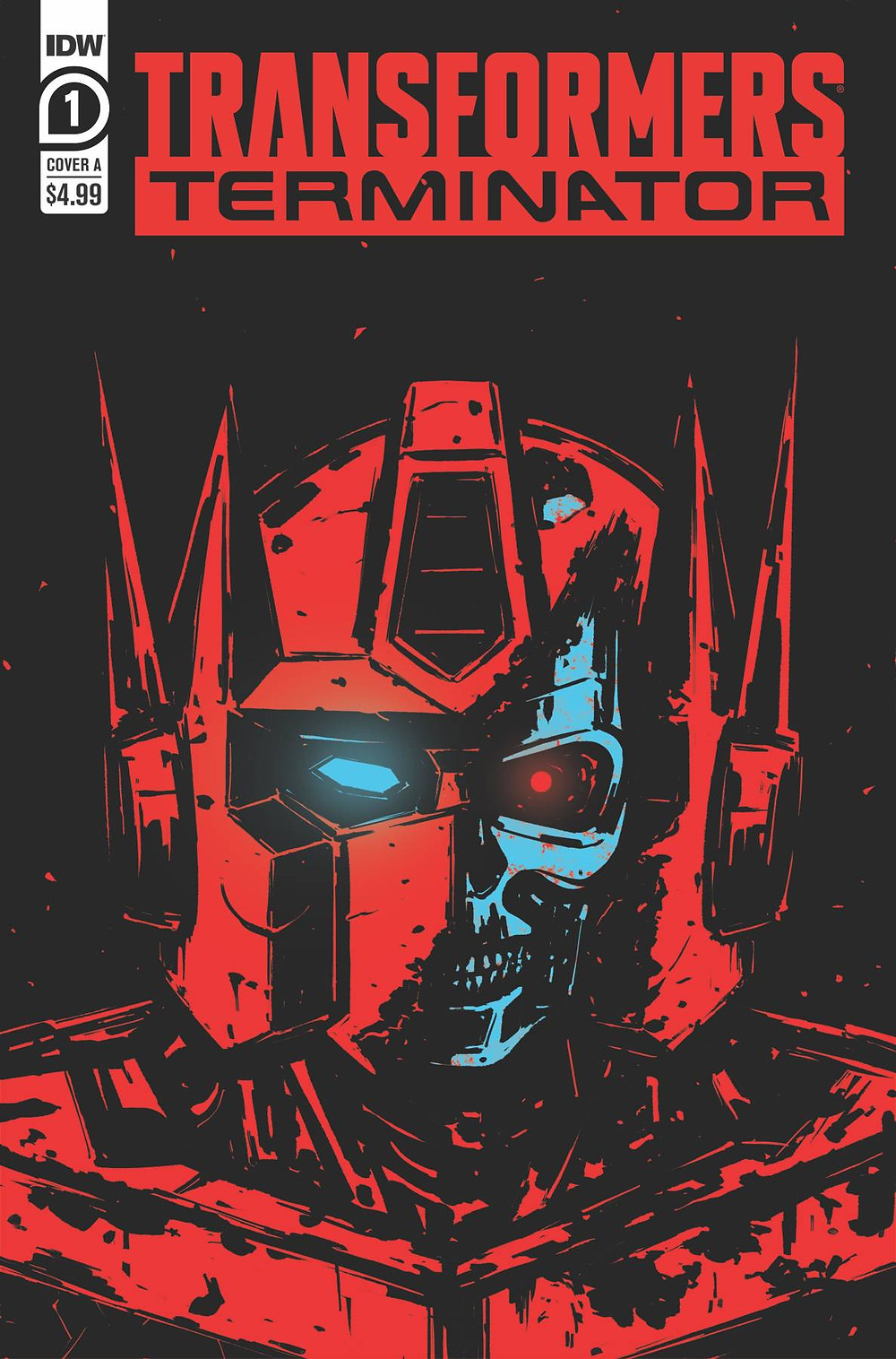 Cover of Transformers vs. Terminator #1