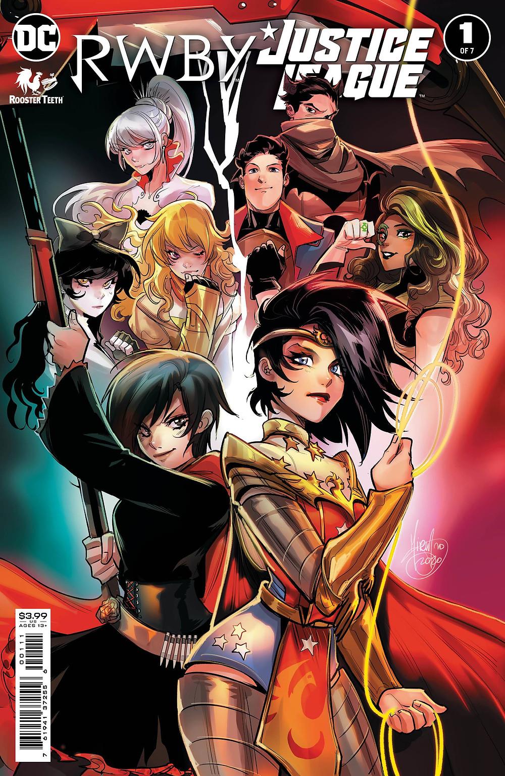 Rwby Justice League #1 cover