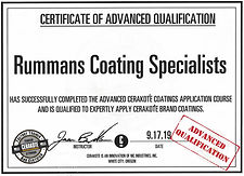 Rummans Coating Specialists Basic Cerakote Advanced Certification