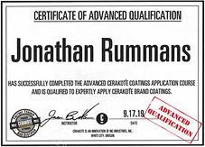 Jonathan Advanced Cerakote Certification