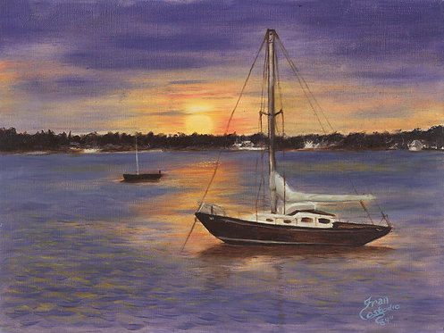Harbor Sunset 8x10