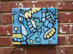 """Sea Change"", mixed media painting"