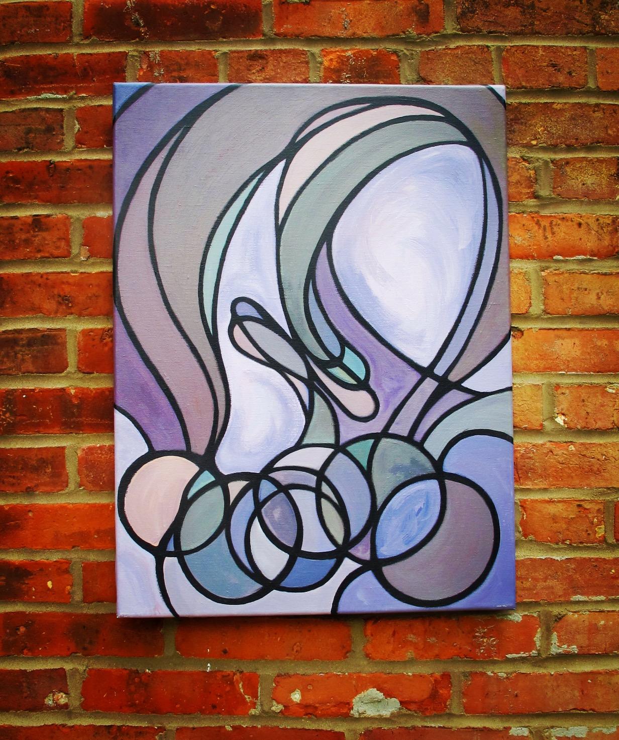 """Alterations"", mixed media painting"