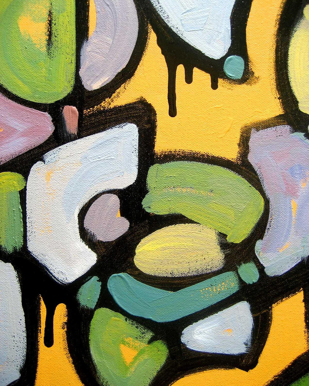 """Hush"", mixed media painting"