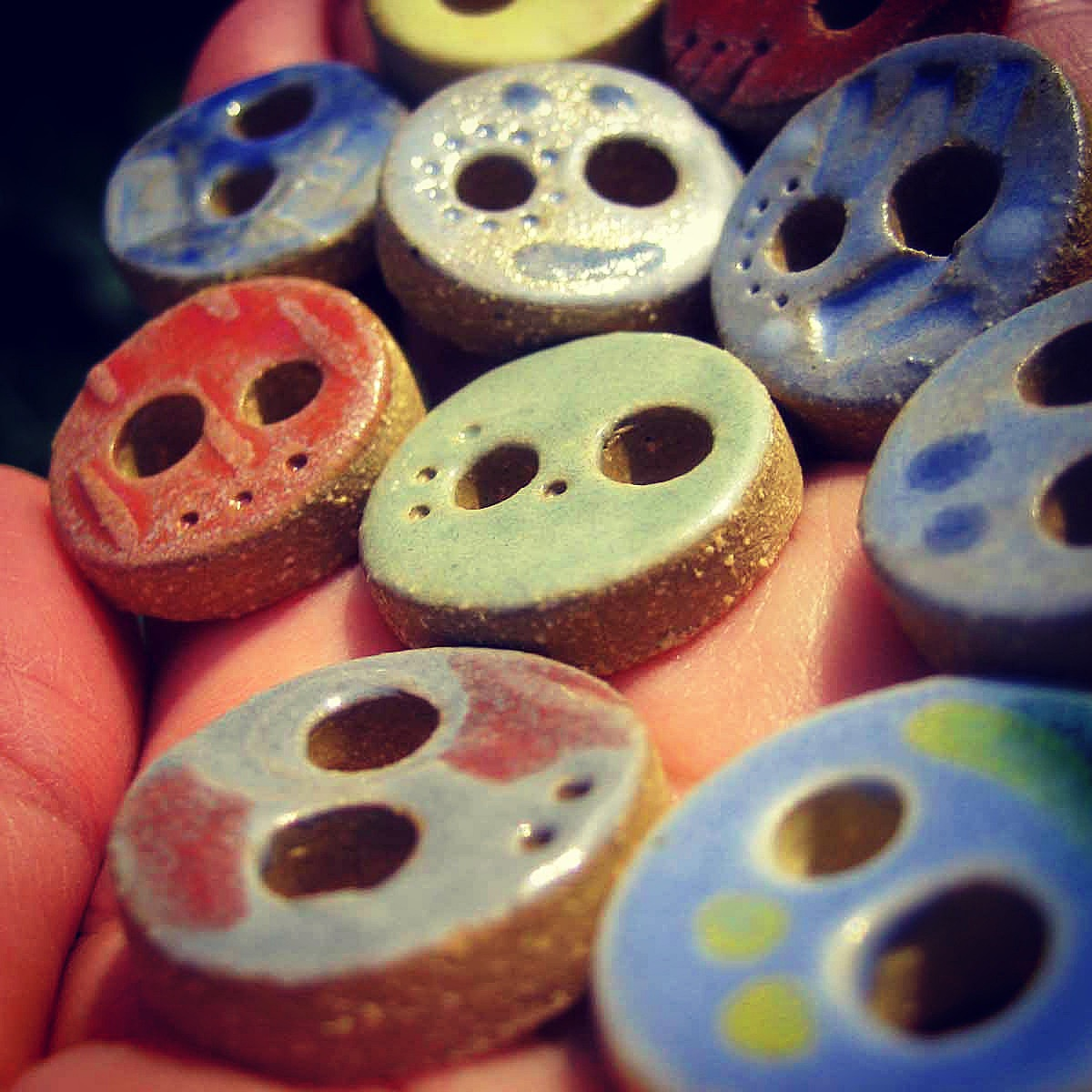Handmade Ceramic Buttons