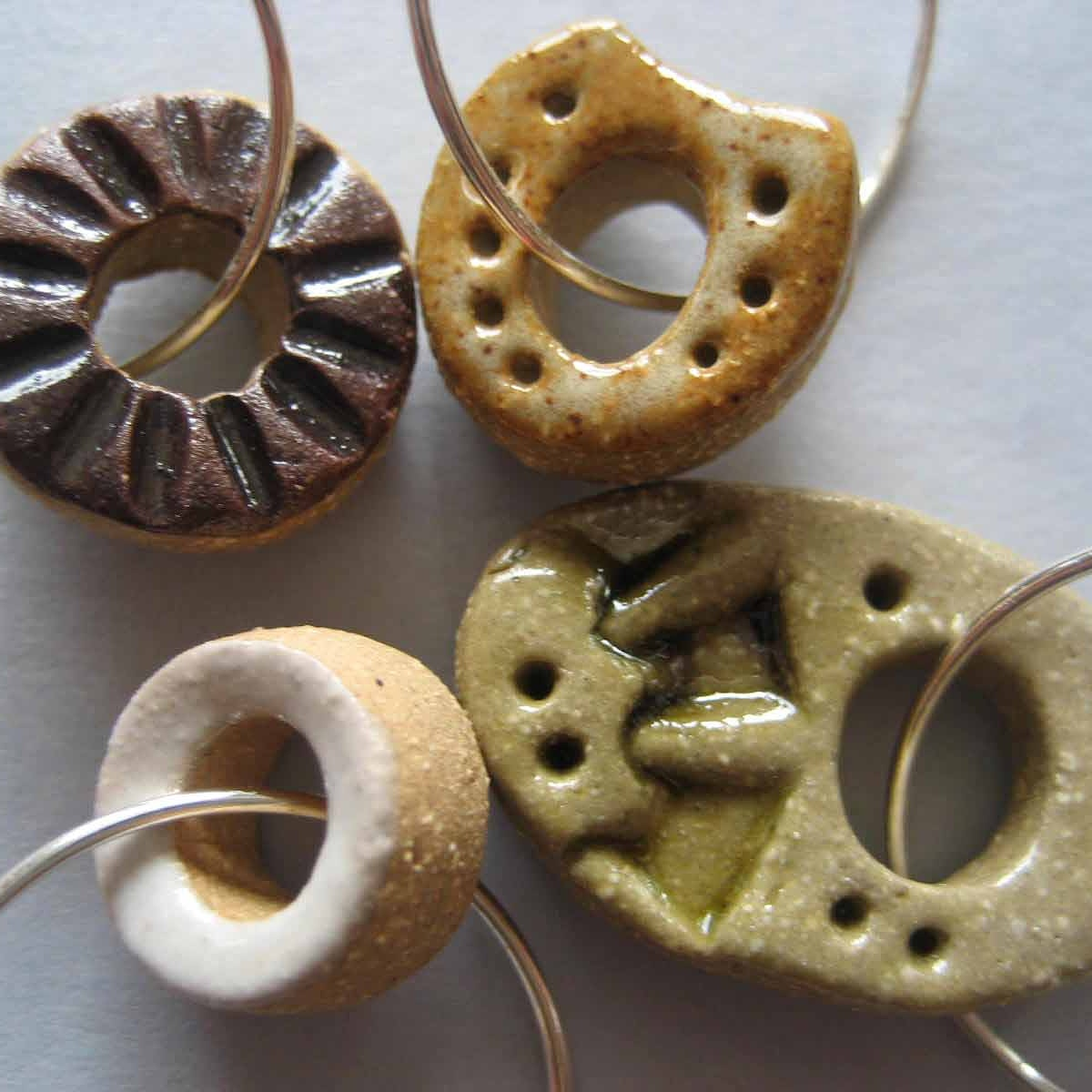 Handmade Ceramic Wine Charms