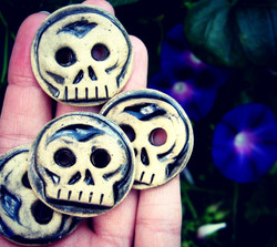 Day of the Dead Inspired Buttons
