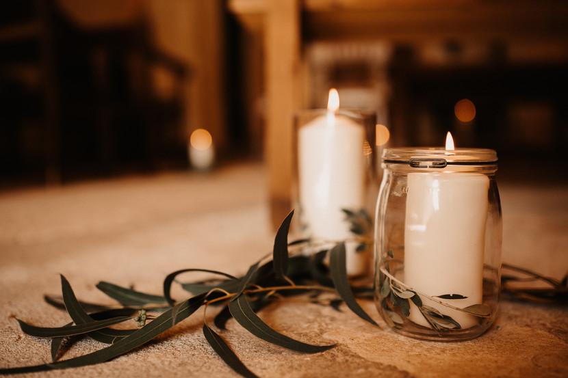Decoración silvestrecon velas perfumadas