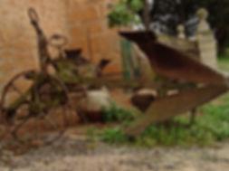 Antiguo arado de la finca Son Sureda Ric