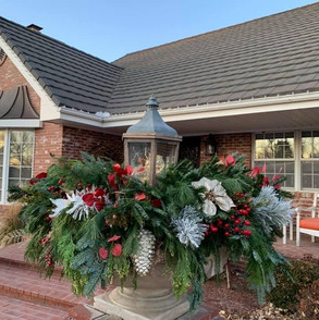 Christmas Pottery Landscaping