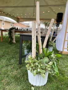 Seasonal Pottery for Backyard Wedding