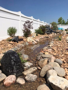 Backyard Rockscape by Kellys Garden Sense
