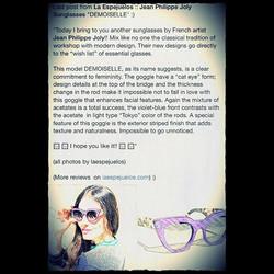 P r e s s - A r t i c l e by _laespejuelos in _the_eyewear_forum with { J E A N P H I L I P P E J O