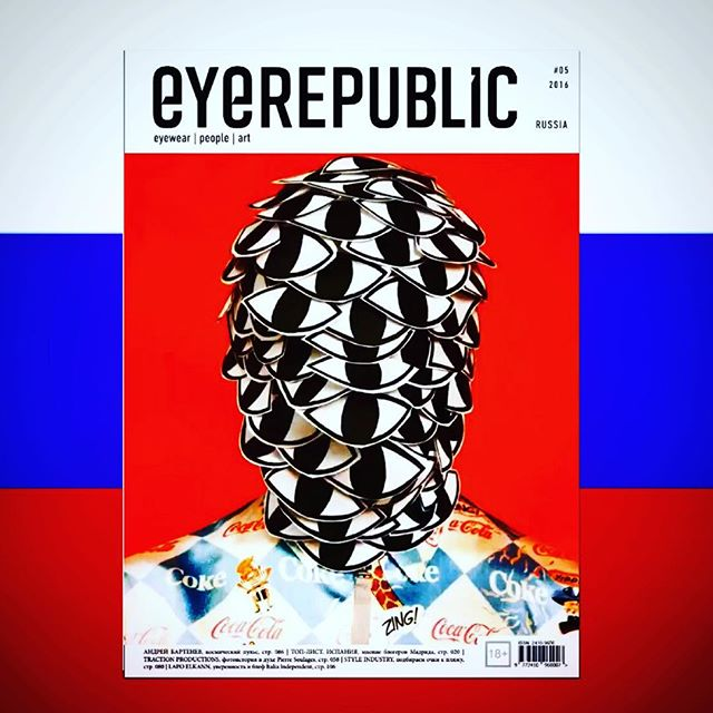 The best Russian Eyewear Magazine __ with #eyerepublic #laespejuelos #jeanphilippejoly #eyewearstyl