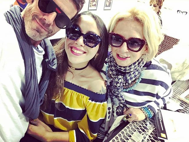 HAPPY TIME !!! End of day !!! With _leiapaloma _jeanphilippejolysunglasses #mido2017 #livethewonder