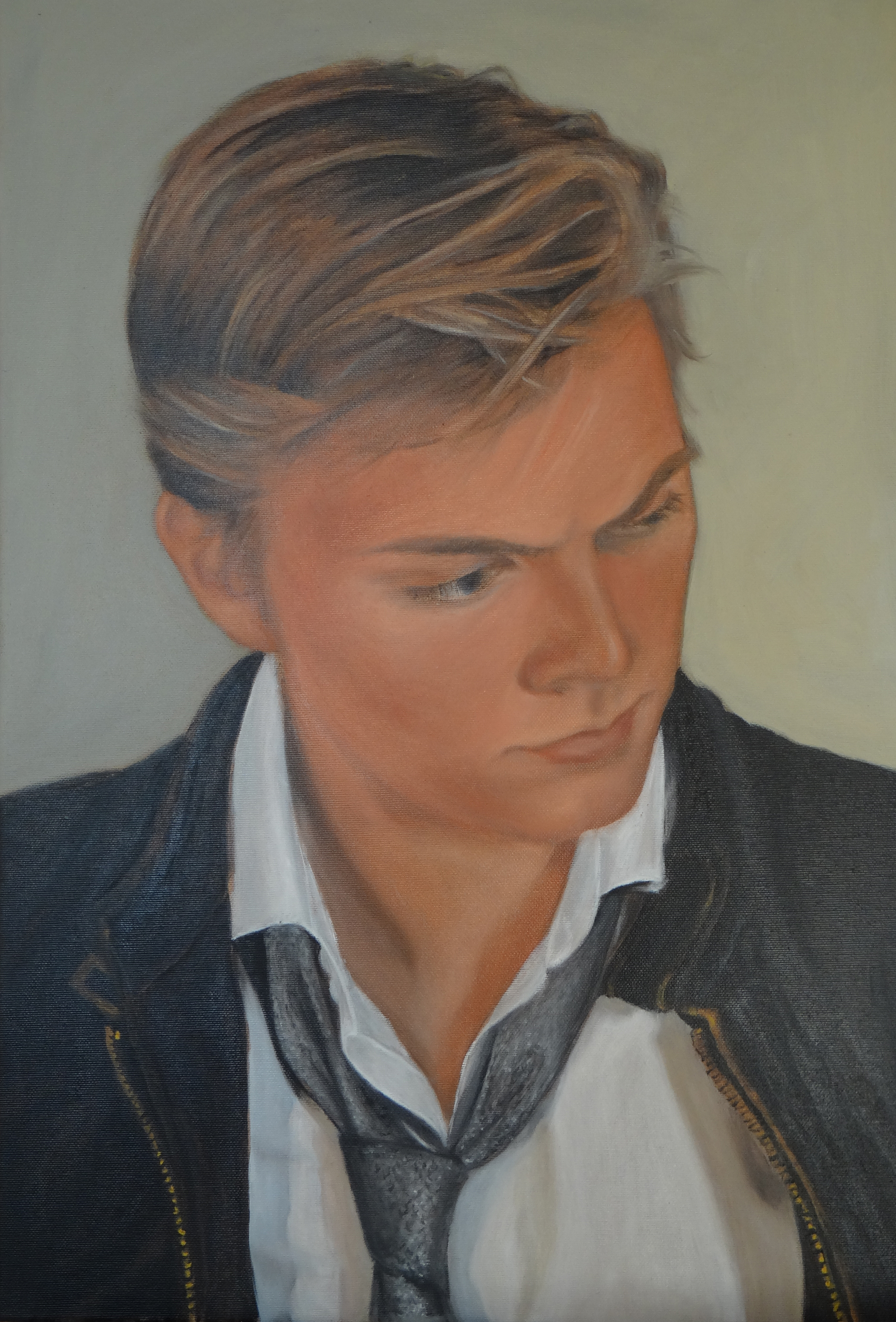 Young man, oil on canvas, 40x60 S
