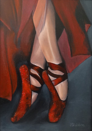 Ballerina shoes, oil on canvas, 50x70