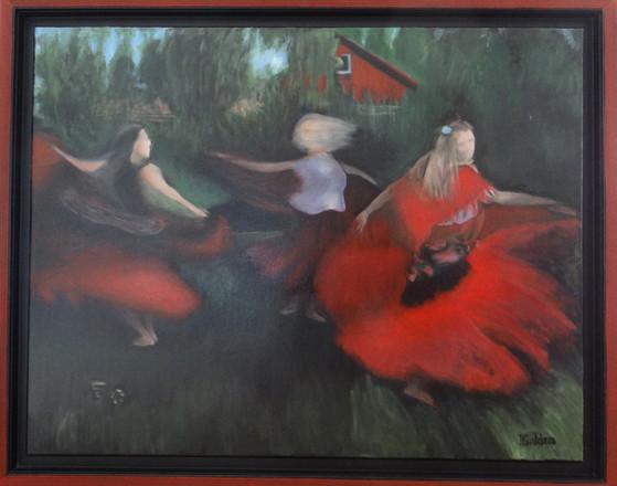 Dansa min kjol, oil on canvas, 90x70