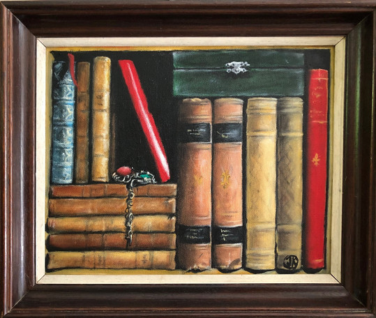 Secrets, oil on  canvas, 29,5x23,5